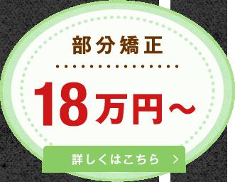 部分矯正 18万円~